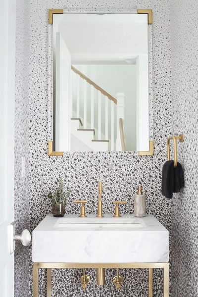 Bathroom Photos Bathroom Wallpaper Trends Black And Gold