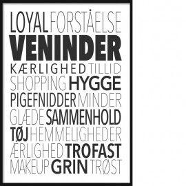 Stikordscollage Veninder Tekst Citater Citater Tekster