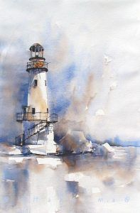 77 Best Watercolor Art Images Aquarell Ideen Lighthouse