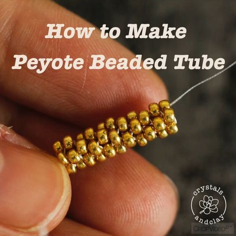 How to make a tube using peyote beading stitch -  Learn how to make a tube using peyote beading stitch in this video #jewelrymaking #diy #beading #pe - #beading #beltdiyideas #diyjewelrymaking #diyjewelryunique #diypiercing #peyote #stitch #Tube #using