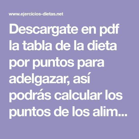 dieta weight watchers pdf