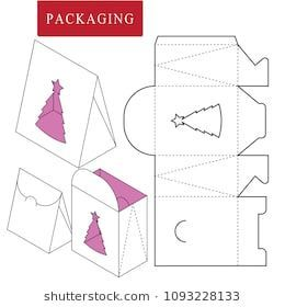 27 Trendy Ideas For Diy Christmas Tree Box Template Christmas Gift Box Template Gift Box Template Box Template
