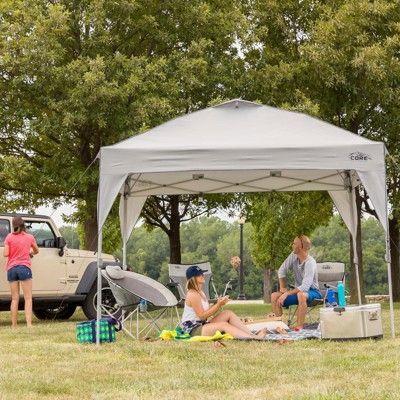 Core 10 X 10 Foot Instant Outdoor Pop Up Sun Shade Canopy Shelter Tent Gray Canopy Shelter Shade Canopy Instant Canopy