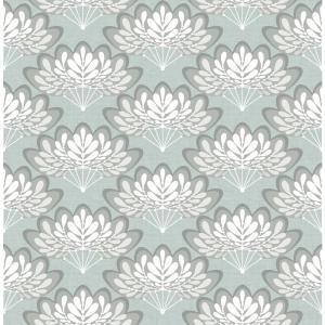 A Street Lotus Light Blue Floral Fans Wallpaper 2861 25755 The Home Depot Brewster Wallpaper Blue Wallpapers Wallpaper Samples