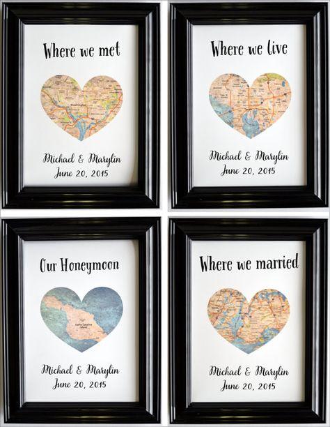 Custom Wedding Anniversary Gift For Couples by Printsinspired