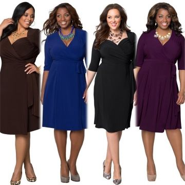 2017 New Style Plus Size Kenya Africa Dress Women Fashion Dresses Kenyan African Lady Leisure Dress Blac Plus Size Dresses Casual Cocktail Dress Casual Dresses