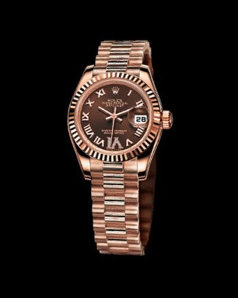 You can't really get more luxe than a classic rose-gold Rolex. Rolex Lady-Datejust in Everose Gold; contact Rolex for pricing
