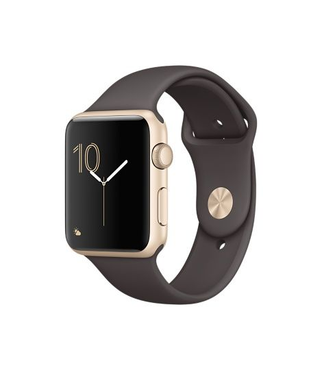Apple Watch (Series 1 & Series 2) - Gold Aluminum Case with Cocoa Sport Band  (38mm & 42mm)