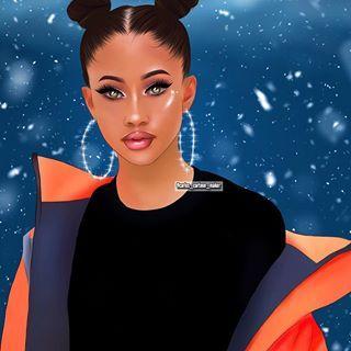 Cartoon I Did Of Kaylabylon Pls Tag Her App Adobe Sketch Adobesketch Drawing Art Viral I Black Girl Art Black Women Art Drawings Of Black Girls