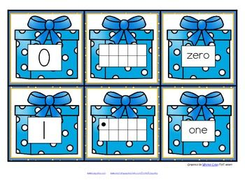 FREE This is a set of number cards with a Hanukkah theme, 0-10. Three cards for each number - the number, a ten-frame representation, and the number word. Use for recognition, sequence, memory games, hiding and finding games, and of course, matching. 6 pages
