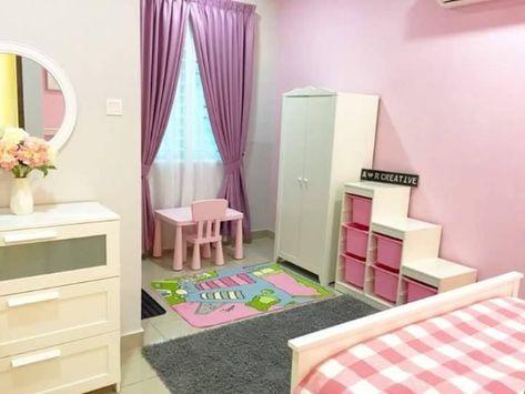 35 dekorasi kamar anak warna pink pastel dan biru bergaya