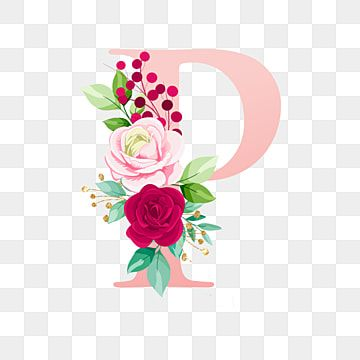 Rose Gold Alphabet Letter P With Watercolor Flower Letter A Clipart Logo Flower Png And Vector With Transparent Background For Free Download In 2021 Lettering Alphabet Watercolor Flowers Floral Art