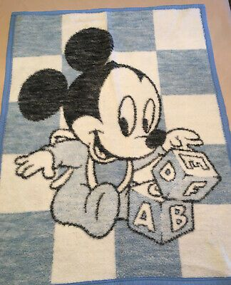 1984 Vtg Biederlack Baby Mickey Mouse Blanket Nursery Throw Abc Blocks Blue Ebay Baby Mickey Mouse Baby Mickey Mickey Mouse Blanket