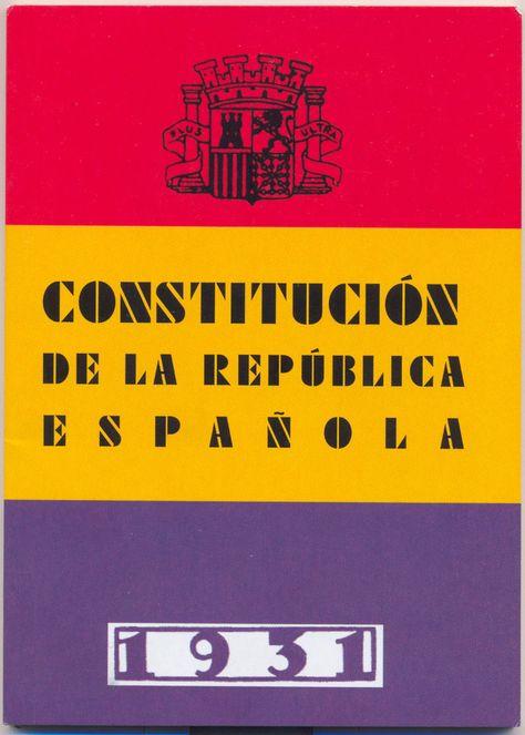 Cubierta constitucion1931 - Historia del constitucionalismo español - Wikipedia, la enciclopedia libre