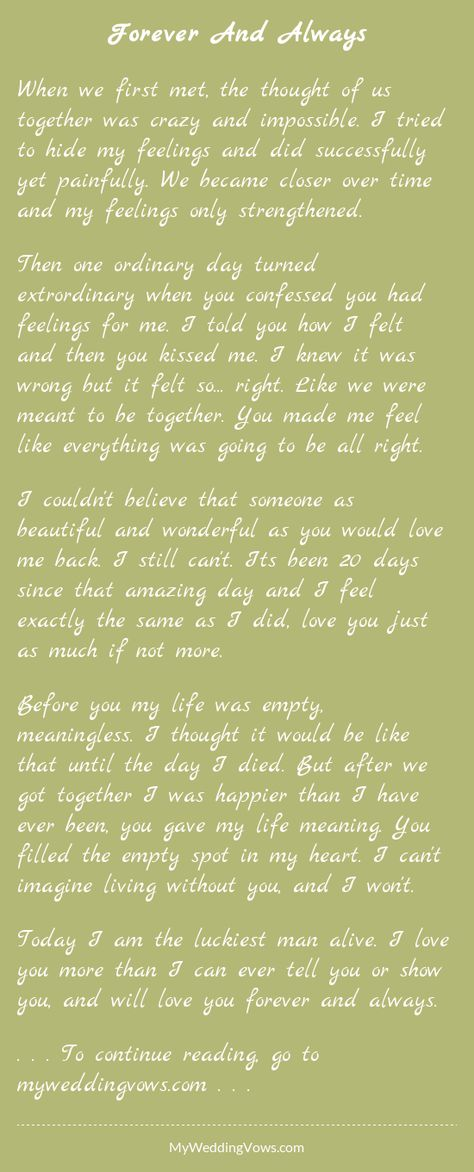 Love Letter  Sweet Hearts Sentences And Wedding Vows