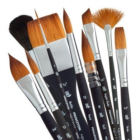 K/ünstler Pinsel Set f/ür /Öl /& Acrylfarben / - 14 St/ück Mischung aus Langlebigem Dachshaar Synthetikpinsel /& Tschungking Schwein Renoir Collection von ZenArt Satin Roll H/ülle Langer Stiel
