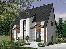 Modern Style House Plan 76519 With 3 Bed 3 Bath Vacation House Plans Cottage House Plans Modern Style House Plans