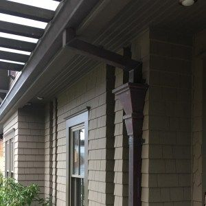 Pictures Of Installed Copper Gutters We Have Provided Copper Gutters Gutters Downspout