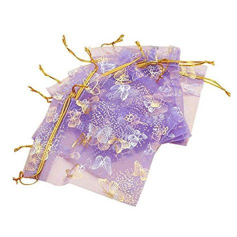 1fb70c28189a Butterfly Organza Jewelry Gift Candy Pouch Bags for Wedding Birthday ...
