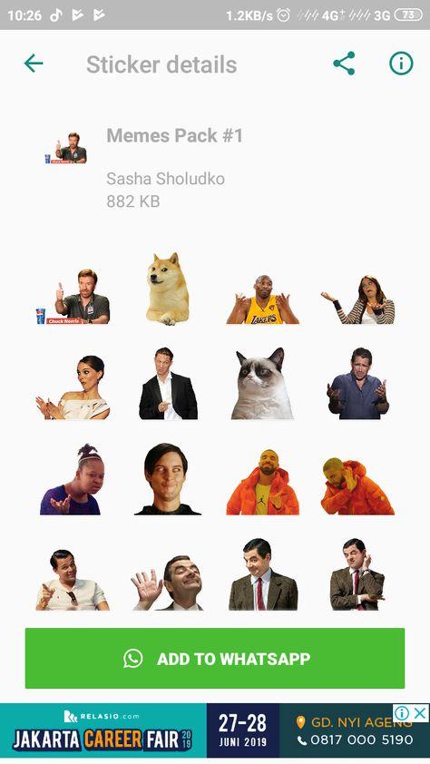 Aplikasi Kumpulan Stiker Whatsapp Messenger Meme Lucu Terlengkap
