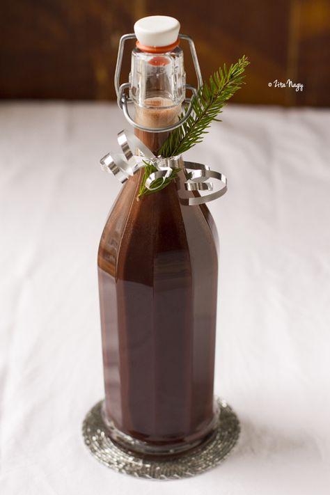 homemade chocolate liqueur (recipe from ziziadventures.com)