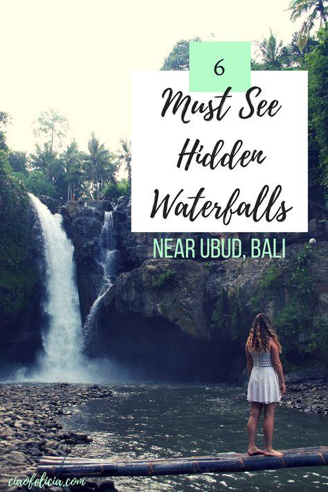 Amazing list of the best hidden waterfalls near Ubud, Bali in Indonesia!