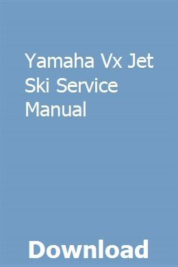 Yamaha Vx Jet Ski Service Manual Repair Manuals Manual Car Nissan Pulsar