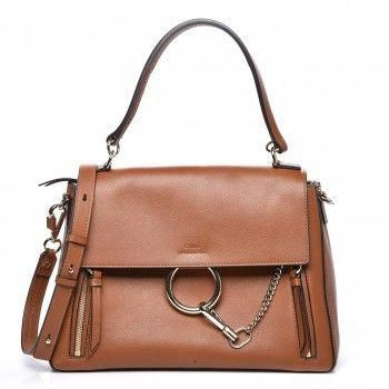 CHLOE Calfskin Medium Faye Day Shoulder Bag Caramel  Designerhandbags d40d58f25b3c