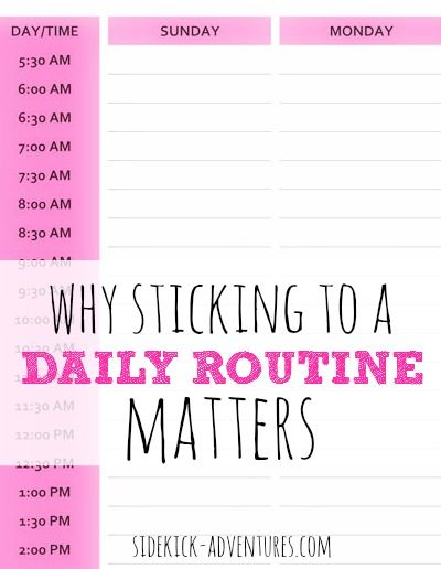 Do you have a daily routine in place? A daily routine can make all the difference between a productive day and a chaotic day. A routine will help you be more productive.