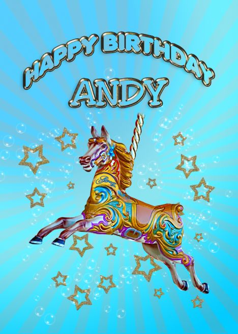 Happy Birthday Andy Card With Images Happy Birthday Larry