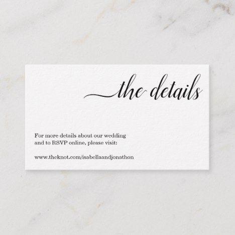 Minimalist Wedding Website Enclosure Card Zazzle Com Wedding Website Minimalist Wedding Wedding Enclosure Cards