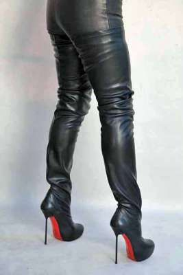 High Heel Overknee Stiefel Mit Plateau With Images Boots High Heel Boots Fashion