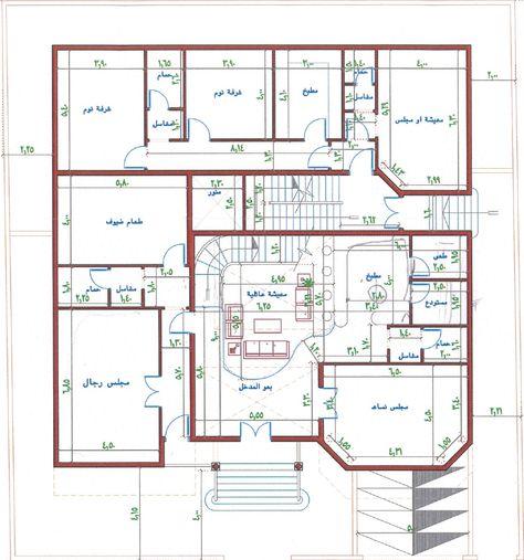 تصميم فيلا مع شقق خلفيه الرجاء ابداء ارائكم واقتراحاتكم House Layout Plans Square House Plans Model House Plan