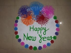 Happy New Year Best Rangoli 4