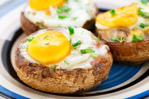 5-Ingredient Baked Egg MushroomsReally nice recipes. Every  Mein Blog: Alles rund um die Themen Genuss & Geschmack  Kochen Backen Braten Vorspeisen Hauptgerichte und Desserts # Hashtag