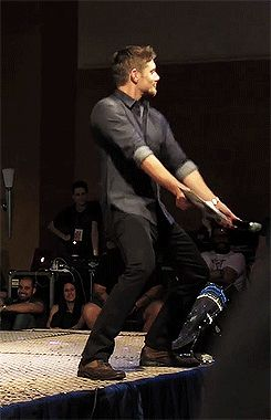 [gif] ...just a friendly reminder that this happened. #Jensen #JIB2013.....this is my sixth dancing Jensen