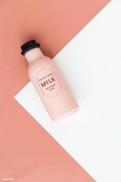 Milk Packaging, Food Packaging Design, Beverage Packaging, Bottle Packaging, Bottle Mockup, Branding Design, Identity Branding, Corporate Design, Corporate Identity