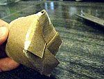 Biodegradable seed-starter pots out of toilet paper rolls