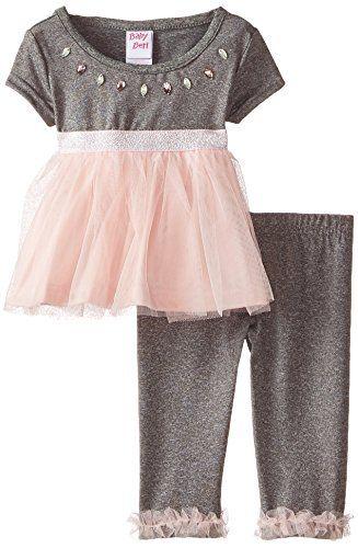 Youngland Girls Brushed Knit Sharkbite Tunic with Knit Legging