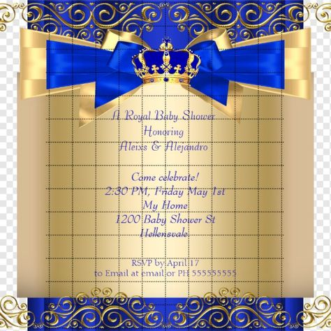 Royal Blue And Gold Decorations For Baby Shower from i.pinimg.com