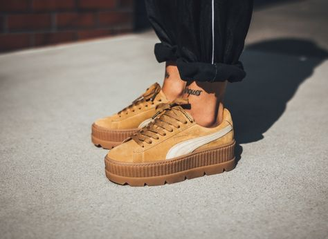 The Rihanna x Puma Fenty Suede Cleated Creeper Drops - Check out this  amazing Sneakers on The Notice Centre bd97bb388a679