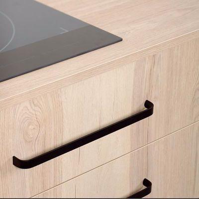 Matte Black Curve D Pull Aluminum Coated Modern Drawer Pulls