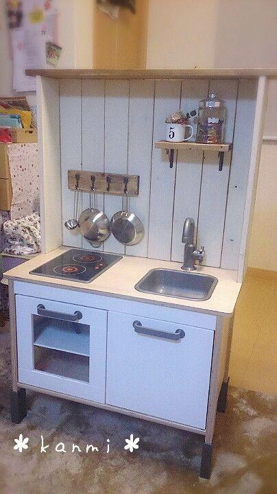 Ikeaのままごとキッチンをリメイク キッチン ままごと シンク