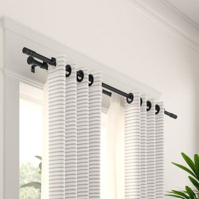Wade Logan Chesson Double Curtain Rod And Hardware Set Size 120