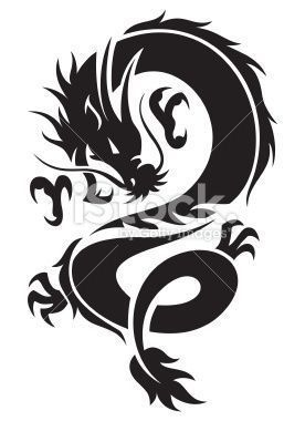 Chinese Dragon In Black Color Arrowtattoo Black Chinese Chinesedragontattoo Colo In 2020 Tribal Dragon Tattoos Small Dragon Tattoos Dragon Tattoo Drawing