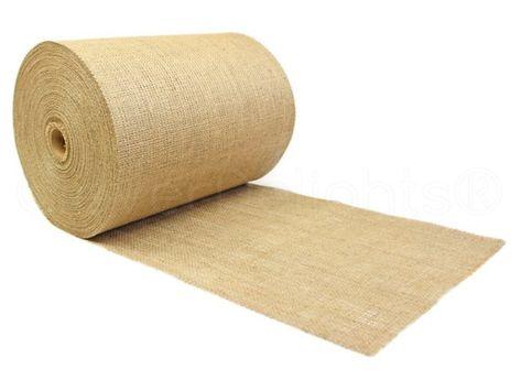 100 Yards 14 Burlap Roll Unfinished Edges Eco Friendly Premium Natural Jute Fabric For Tabl Burlap Rolls Burlap Fabric Natural Jute