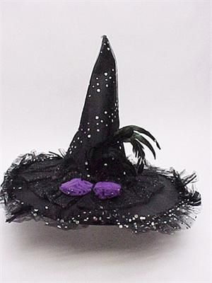 Pin By Linda On Good Ideas For Halloween Halloween Hats Handmade Witch Hat Witch Hat