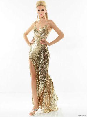 Vestidos para fiestas en dorado
