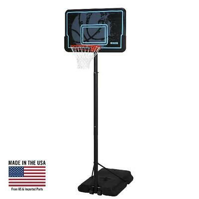 Advertisement Ebay Portable Basketball System Wheeled 44 Casual Shooting Sport Game Play In 2020 Portable Basketball Hoop Adjustable Basketball Hoop Basketball Hoop