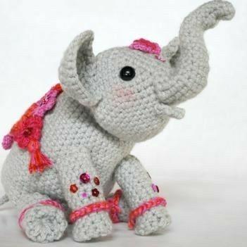 Crochet Amigurumi Elephant Pattern ( English only )   Amigurumi ...   351x351